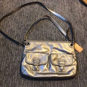 Silver Coach Crossbody